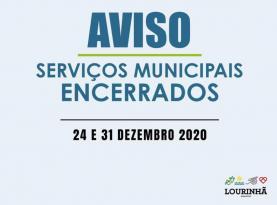 Município da Lourinhã encerra serviços a 24 e 31 devido à tolerância de ponto