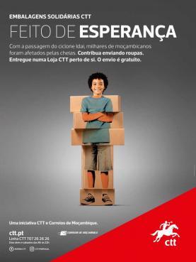 CTT recolhem e enviam gratuitamente donativos dos portugueses para Moçambique