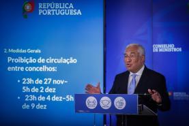Covid-19: Circulação proibida entre concelhos de 27 de Novembro e 2 de Dezembro e 4 e 9 de Dezembro