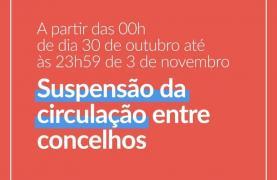Covid-19: Proibido circular entre concelhos entre 30 Outubro e 3 de Novembro