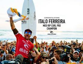 Ítalo Ferreira vence em Peniche e assume liderança do 'ranking' mundial de surf