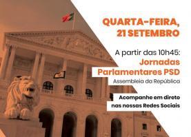 Covid-19: PSD mudou Jornadas Parlamentares no Oeste para a Assembleia da República