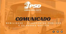 PSD/Oeste repudia em comunicado modelo governamental dos passes de transportes públicos