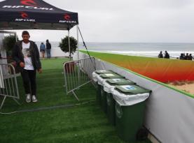 Recicladas mais de 15 toneladas de lixo no 'Meo Rip Curl Pro Portugal' em Peniche