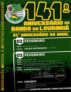 Celebração do 141º aniversário da Banda da Lourinhã e do 31º da AMAL