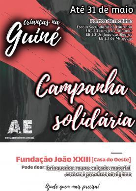 Associação de Estudantes da Escola Secundária Dr. João Manuel da Costa Delgado organiza campanhas solidárias