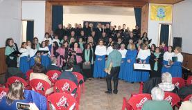 Coro Municipal da Lourinhã participou em encontro musical que decorreu na associação de A-dos-Ruivos, no Bombarral