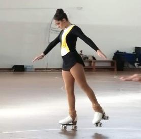 Maria Domingos é vice-campeã nacional de patinagem artística