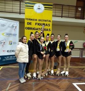 Equipa de patinagem artística do Centro Social e Cultural de Ribamar é vice-campeã distrital por equipas