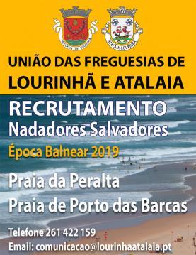 União de Freguesias da Lourinhã e Atalaia recruta nadadores-salvadores para as praias da Atalaia