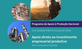 OesteCIM dispõe de 4,2 milhões de euros para o Programa de Apoio à Produção Nacional