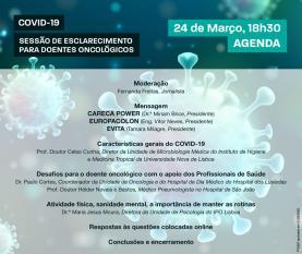 COVID-19: sessão 'online' para doentes oncológicos esclarece dúvidas sobre pandemia